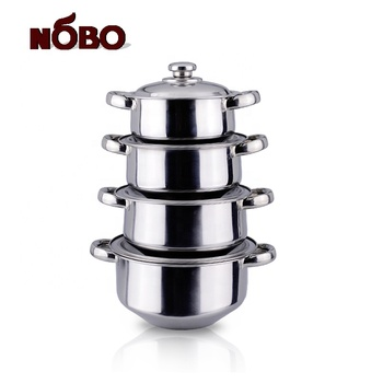 Factory price stainless steel soup pot cooking hot pot set with steel lid