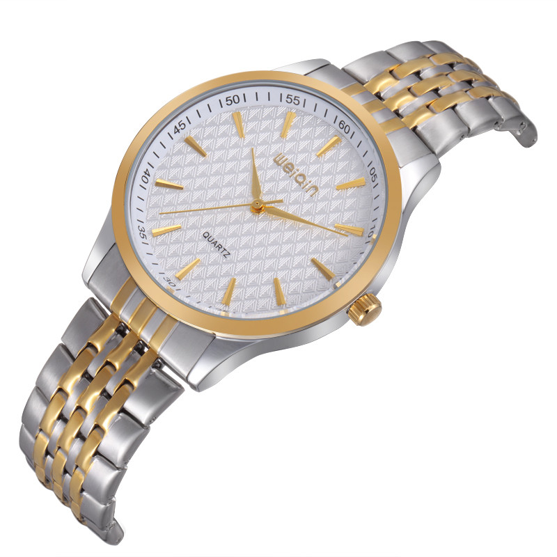 W00104 water resistant two tone quartz movt stainless steel watches