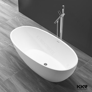 KKR Big Size European Style Artificial Stone Freestanding Sitting Bathtub