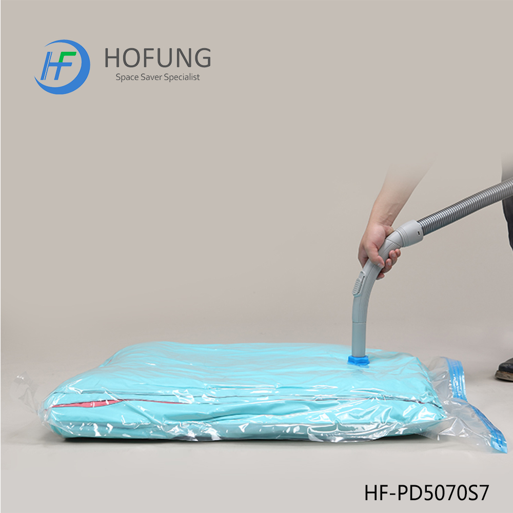 Home Decor Manufacturers Plastic Compressed Vacuum Bag With Pump For Clothes Bedding