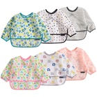 Long sleeved waterproof baby apron bibs
