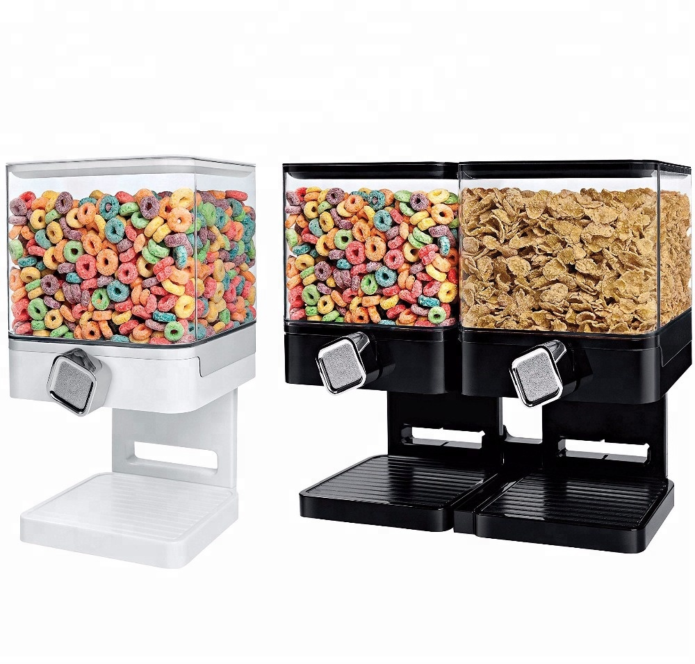 Airtight Breakfast Storage Container Kitchen Snack Canister Dry Food Cereal  Dispenser - Buy Dry Food Dispenser,Canister Dispenser,Food Dispenser ...