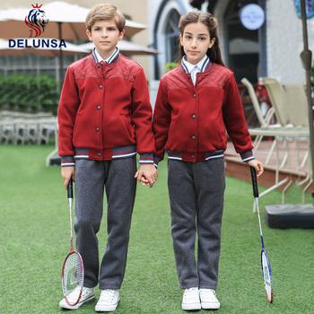 Fashion School Uniform Manufacturers Red Color Sport Middle School Clothes  - Buy School Clothes,Middle School Clothes,School Uniform Manufacturers