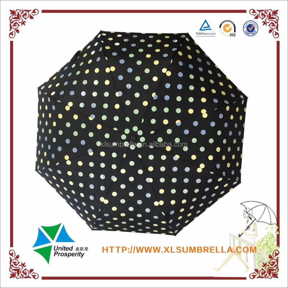 High quality automatic open and close when rain color change umbrella