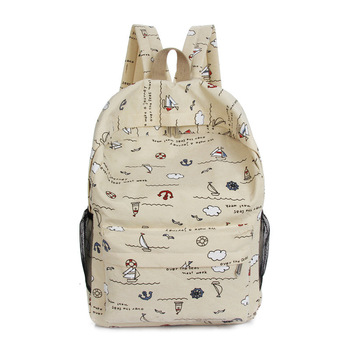 Japanese, han edition tide female rural canvas backpack bag backpack backpack small and pure and fresh students
