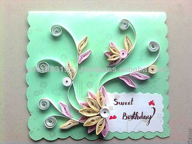 Greeting Card Handmade Greeting Card Quilling Paper Card Buy