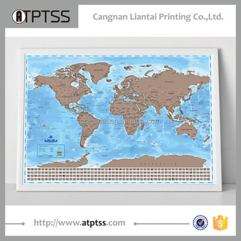 Personalised Scratch Usa Scratch Map Customized Size Map Black Map ...
