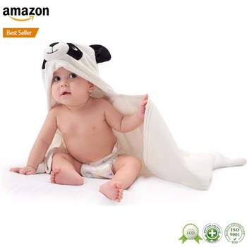 Amazon hot selling high quality baby boy bamboo hood bath wrapper towel