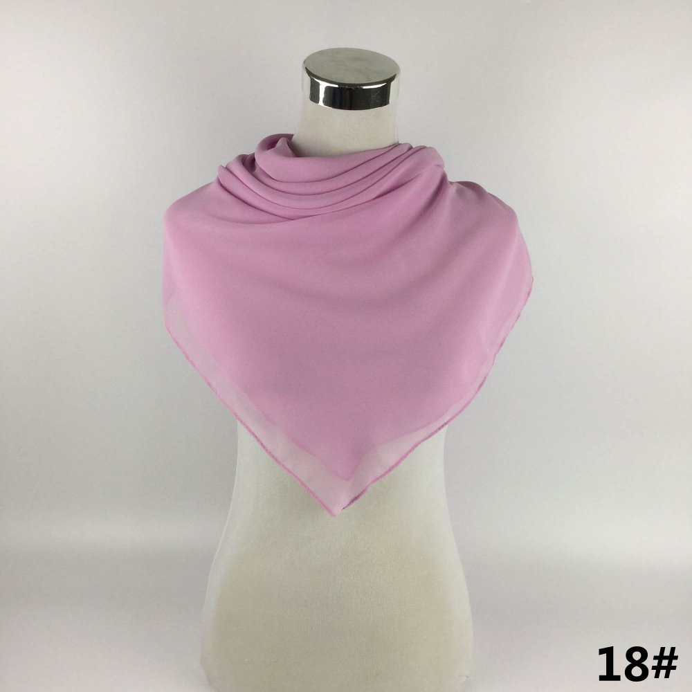 Spring Summer Arabic Dubai Hijabs Fancy Color Latest Design Women Lady Girls Square Bubble Chiffon Georgette Hijabs Shawl Scarf