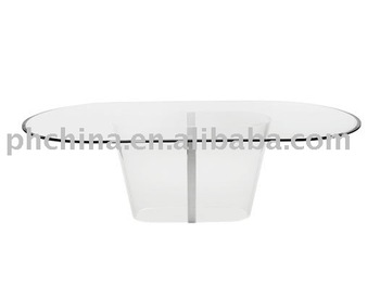 LY 1093 Clear Oval Acrylic Table,Lucite Acrylic Furniture Part 58