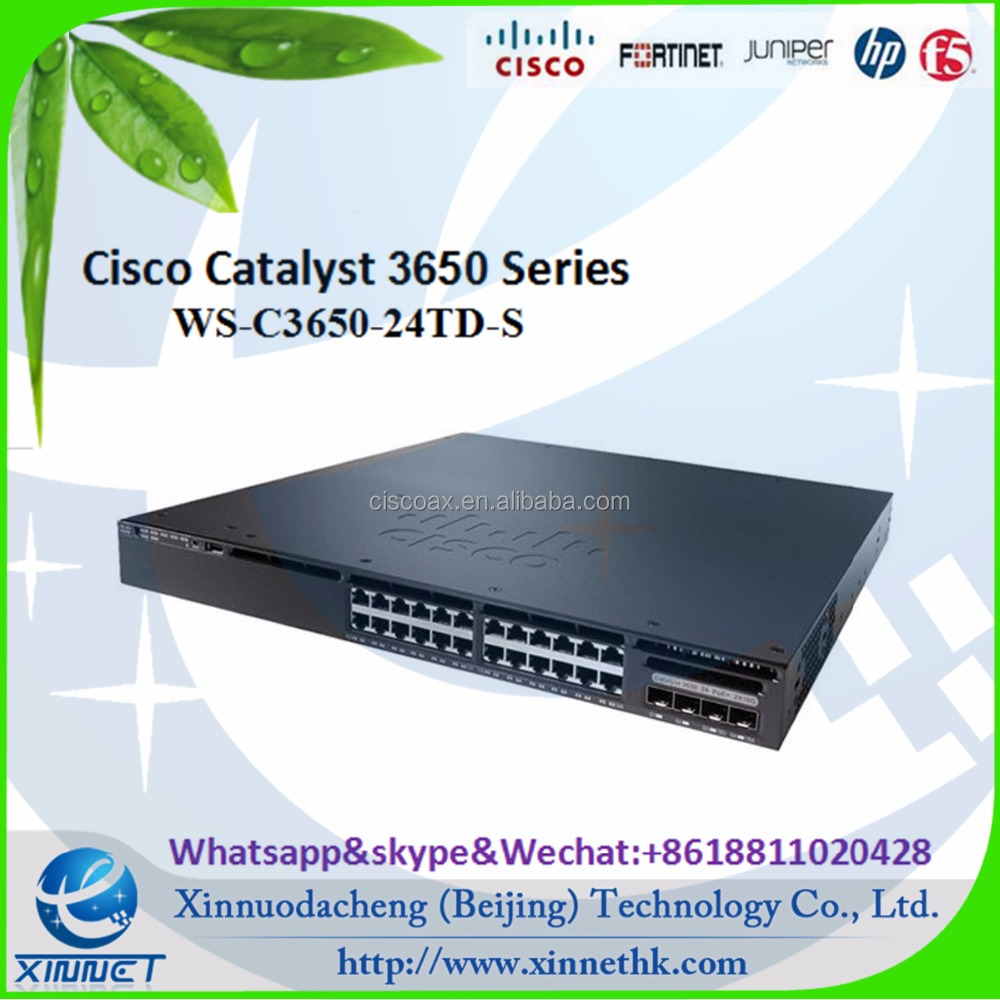 China Wholesale Network Cisco 3650 Switch WS-C3650-24TD-S 24 Ports Ethernet Gigabit Switch - IP Base - Managed Switch