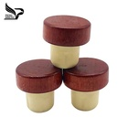 Custom T sharp wooden cap synthetic cork bottle stopper for wine Bottle
