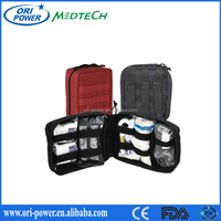 OP manufacture CE FDA CE approved hot sale portable compact camping adventure police first aid kit military medical supplies