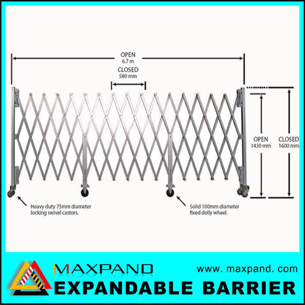 Factory directly provide portable professional retractable fencing gate