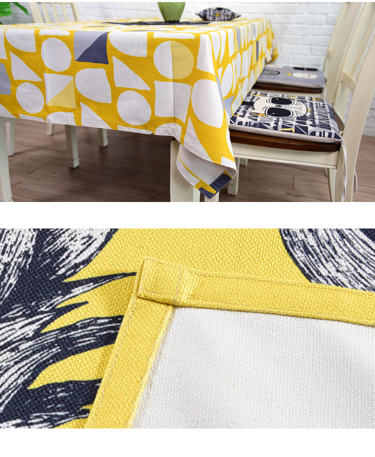 Top quality geometry print cotton tablecloth