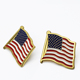 Lapel Pin Making Supplies Cheap Wholesale Brass American Security Cross Country Flag Lapel Pin