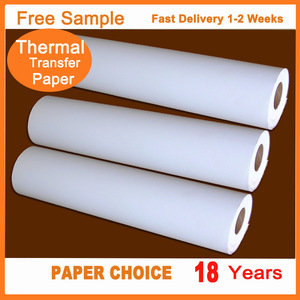 "Factory Price Custom Logo 1620mm(64"") 70gsm Fast Dry Sublimation Rolls Thermal Transfer Printing Paper"