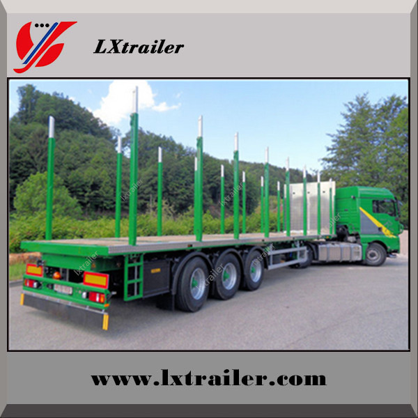 Liangshan low price wood / timber transport semi trailer truck