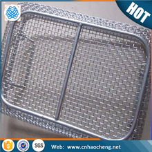 High press resistance stainless steel 304 316 wire mesh hanging baskets for fruit storage with lid/net cover