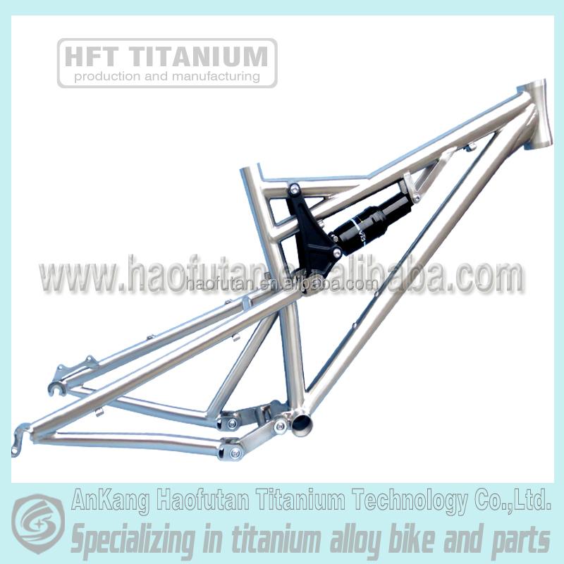 Haofutan Gr9 Titanium Fatbike Full Suspension Frame For 26/27.5/29 ...
