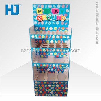 Hot selling pos corrugated plastic display stand, carton display corrugated cardboard furniture