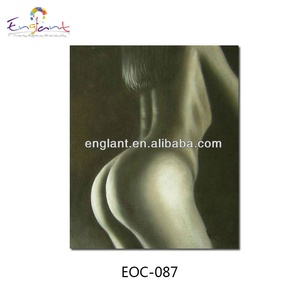 Handmade picture nude women painting with grey tone