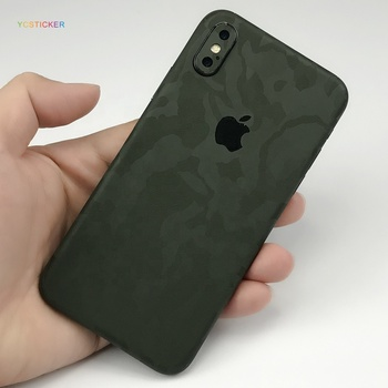 3M Green Camo FullBody Precision Edge to Edge Coverage Easy to Apply Vinyl Skin Sticker for iPhone X with 3D Texture camouflage