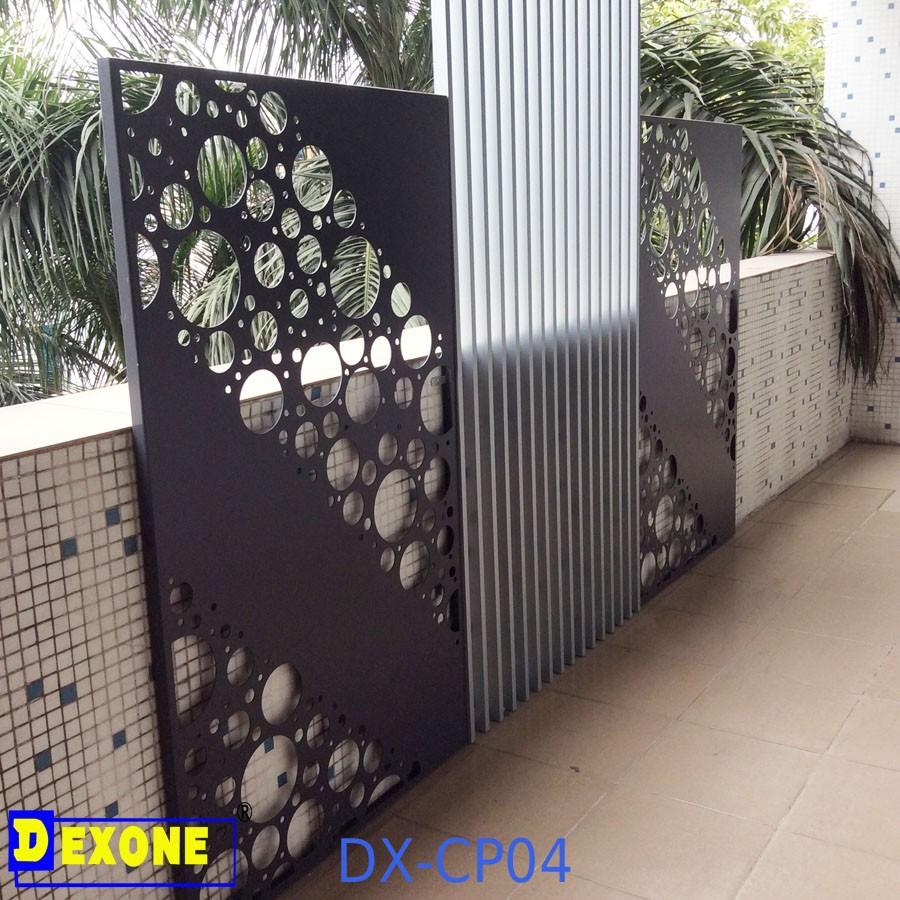 Cnc aluminum perforated decorative wall panels metal fence for Decoration jardin metal