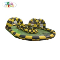 Inflatable racing track race track go kart racing