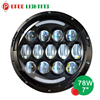 New design 78w DOT approved 7 inch jeep headlight