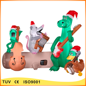Funny animal christmas musical inflatables animated inflatables for sale