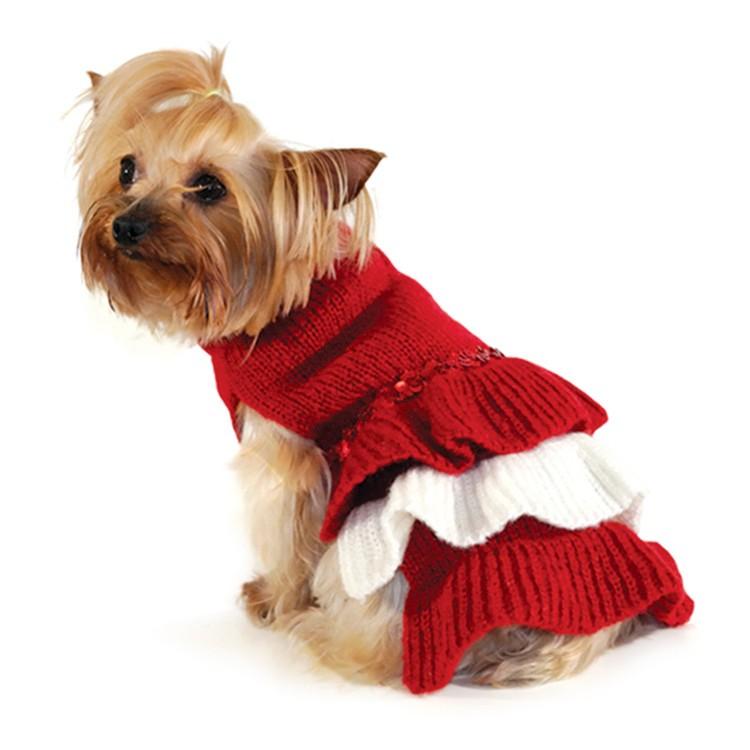 Вязание платья для собак