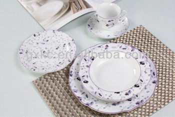 excellent purple decal fine china porcelain dinnerware sets(SHZ3760) : fine china dinnerware - pezcame.com