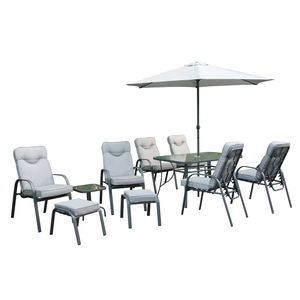 Outdoor Dining padded Chair adjustable back table Garden Furniture patio set outdoor furniture garden set