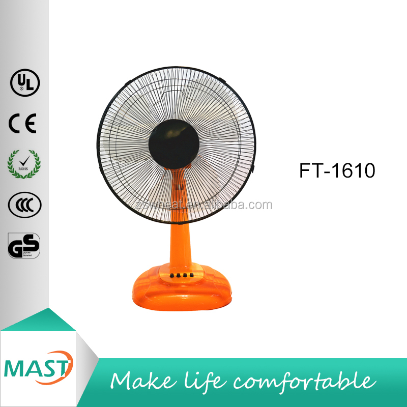 OEM Various Color Best Selling Cooling 16 inch Table Desk Elecrtic Fan (50W) with 5 ABS blades