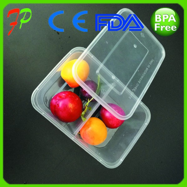 eco-friendly plastic PP blister food tray with cover , PP take away food container