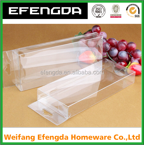 Clear plastic folding box customized PET/PVC/PP acetate boxes for cell phone