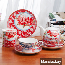 2018 hot sale wholesale elegance light weight fine new bone china tin ceramic dinnerware set