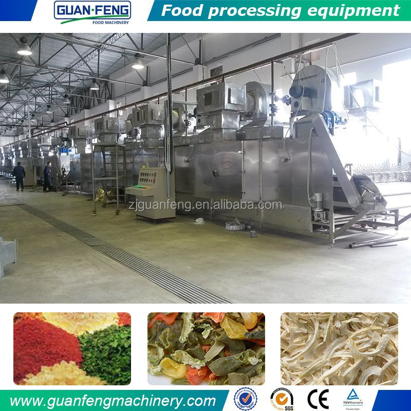 Belt Drying Line For Vegetables Red Chilli drying machine