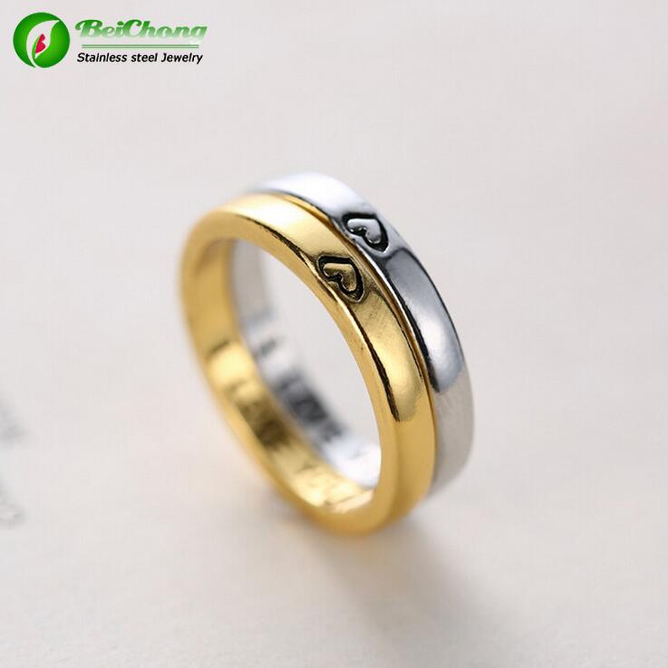 Personalized Gold Wedding Rings With Names Engraved Inspired