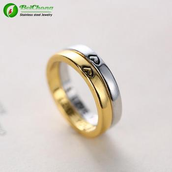 Personalized Gold Wedding Rings With Names Engraved Inspired Design