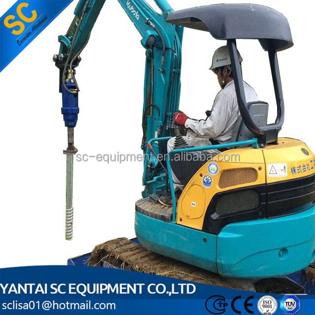 Excavator Mounted Pile Driver Screw Type And Ramming Type - Buy Hydraulic  Pile Driver,Sheet Pile Driver,Excavator Pile Driving Machine Product on