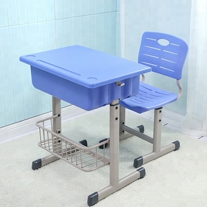 assembly ergonomic plastic school chair table adjustable study desk