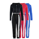 Cheap custom friendly women sport wear clothes set slim fit sport tracksuit