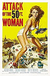 Old Tin Sign Attack Of The 50 Ft. Woman - Vintage Horror Movie Poster
