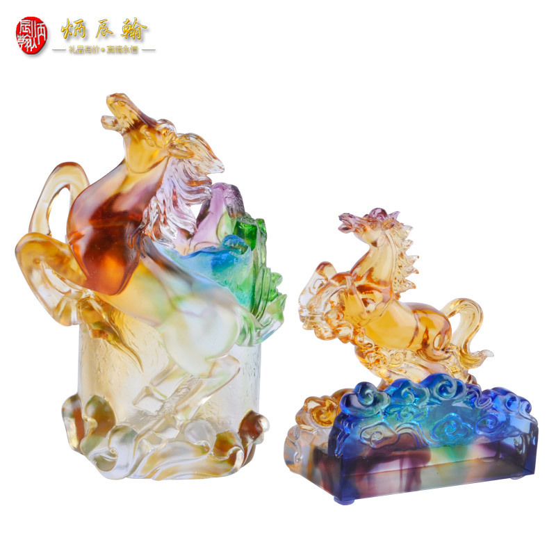 Cheap gift business card holder find gift business card holder get quotations chen bing han glazed horse business card holder business office ornaments creative practical gift ideas for colourmoves