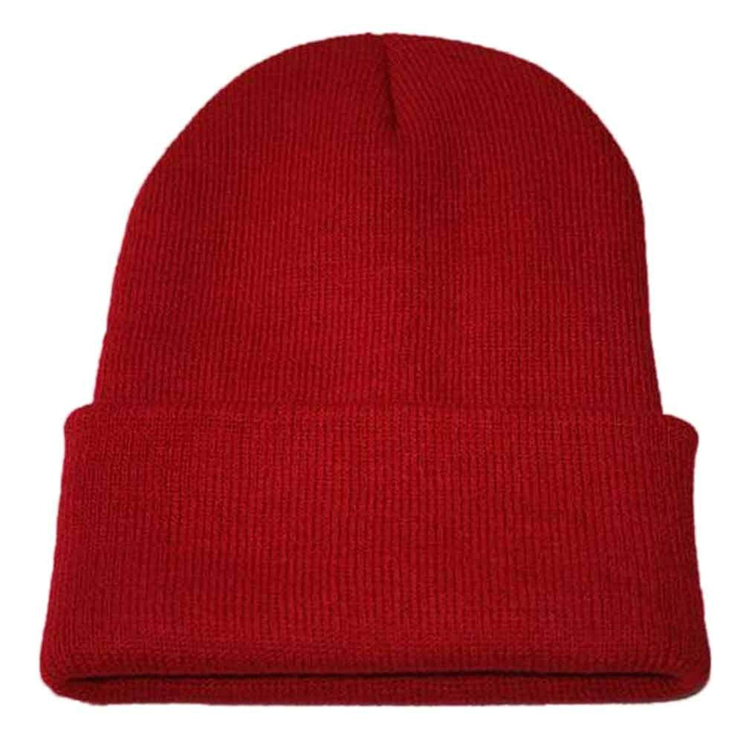 e945273e88f Get Quotations · Shybuy Unisex Warm Winter Hat Knit Beanie Skull Cap Cuff  Beanie Solid Hat Hip Hop Winter