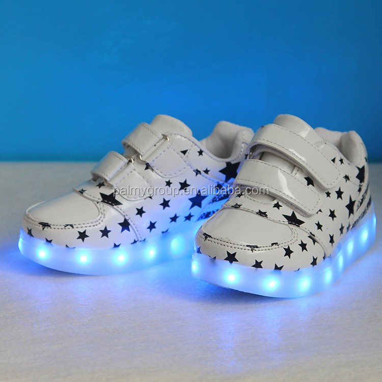 Fahionable Girl led shoes light flashing running rechargeable simulation led shoes