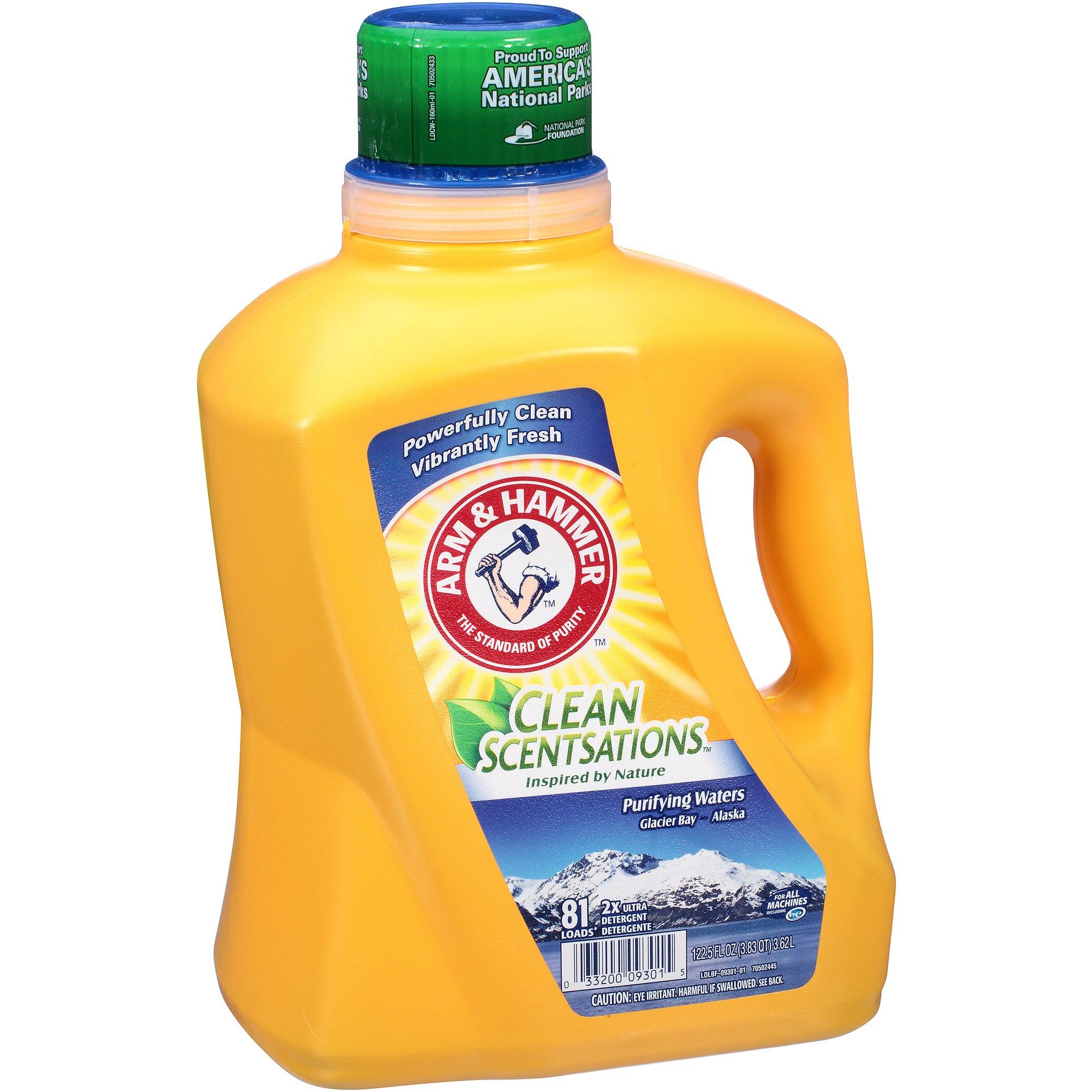 Arm & Hammer Clean Scentsations Purifying Waters Liquid Laundry Detergent, 81 loads, 122.5 fl oz