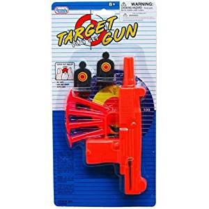 SOFT DART TOY UZI GUN WITH SHOOTING TARGETS, Case of 72